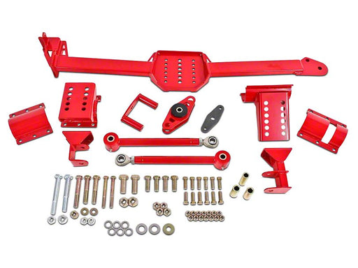 BMR 2005-2014 Mustang  Body Mounted Watts Links w/ Poly Bushings & Rod Ends - Red - Lebanon Ford Performance Parts