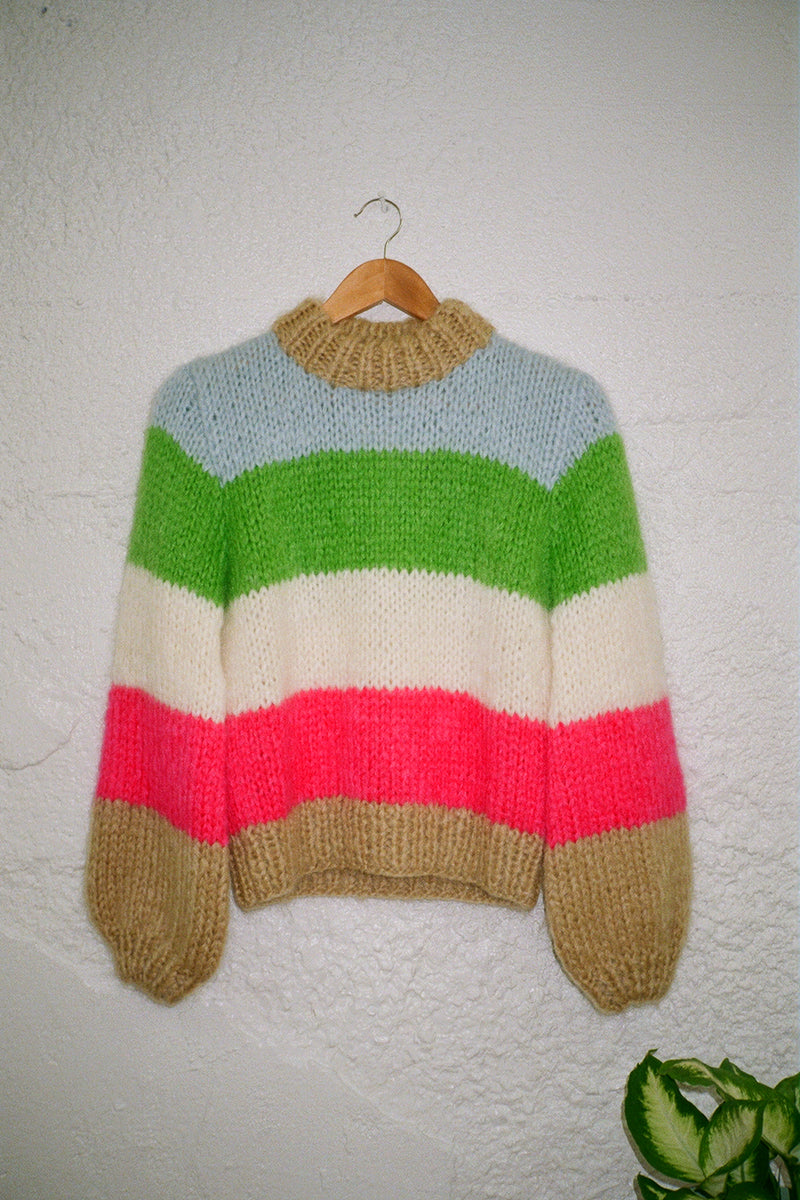 The Julliard Mohair Sweater - Multi Stripe
