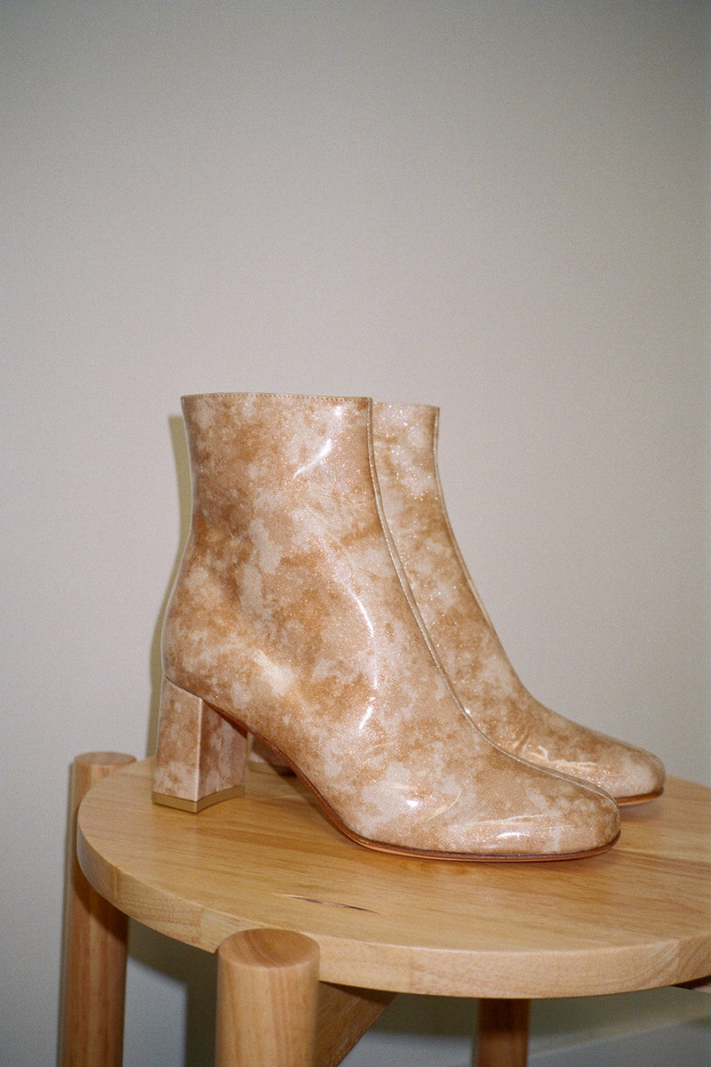 Agnes Boots - Gold Glitter