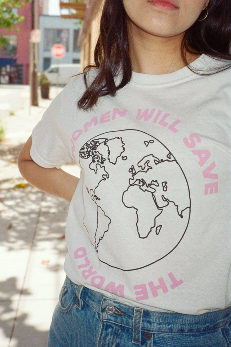 Women Will Save The World T-Shirt - White