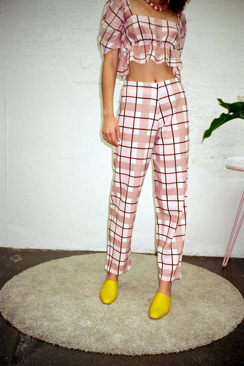 Cacoon Pants - Plaid