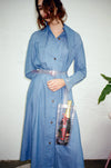 Western Full Length Jacket Dress - Authentic Blue