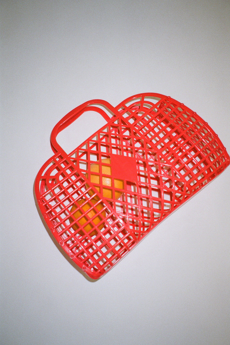 Jelly Retro Basket - Red