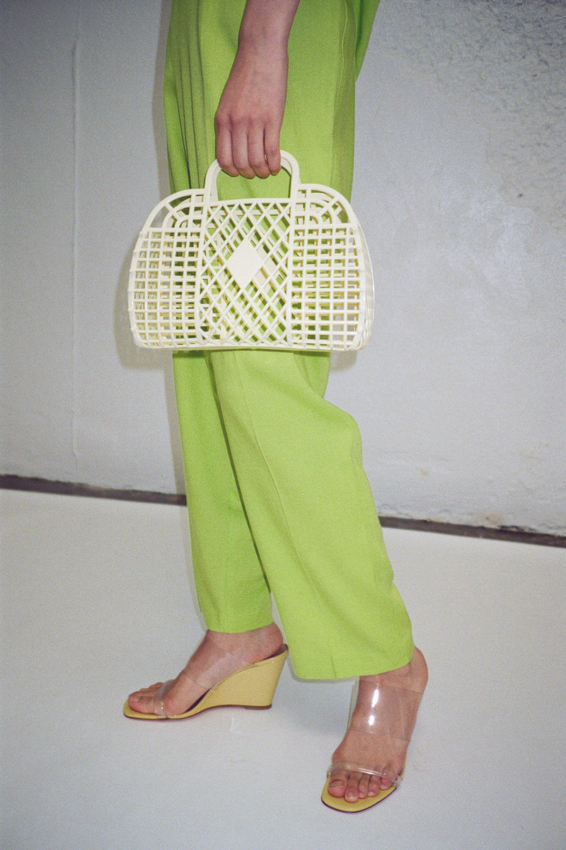 Mini Retro Basket - Yellow