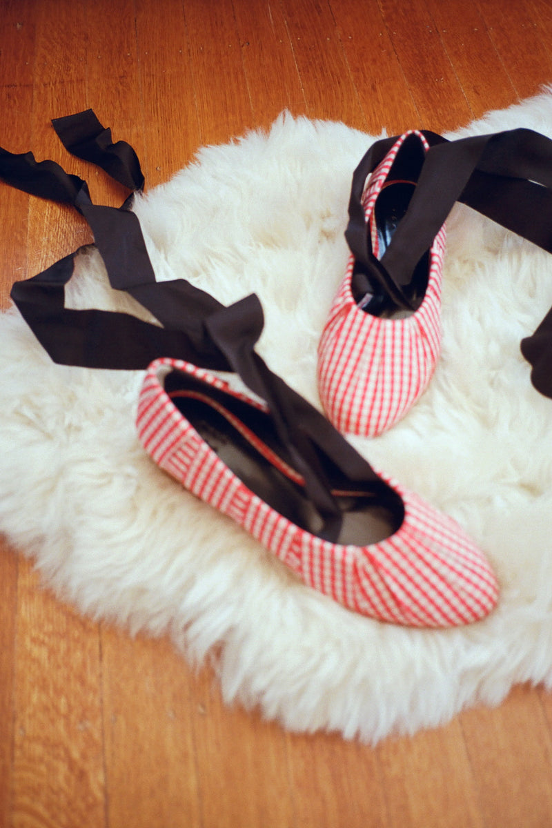 Sylvie Gingham Ballet - Red Cream