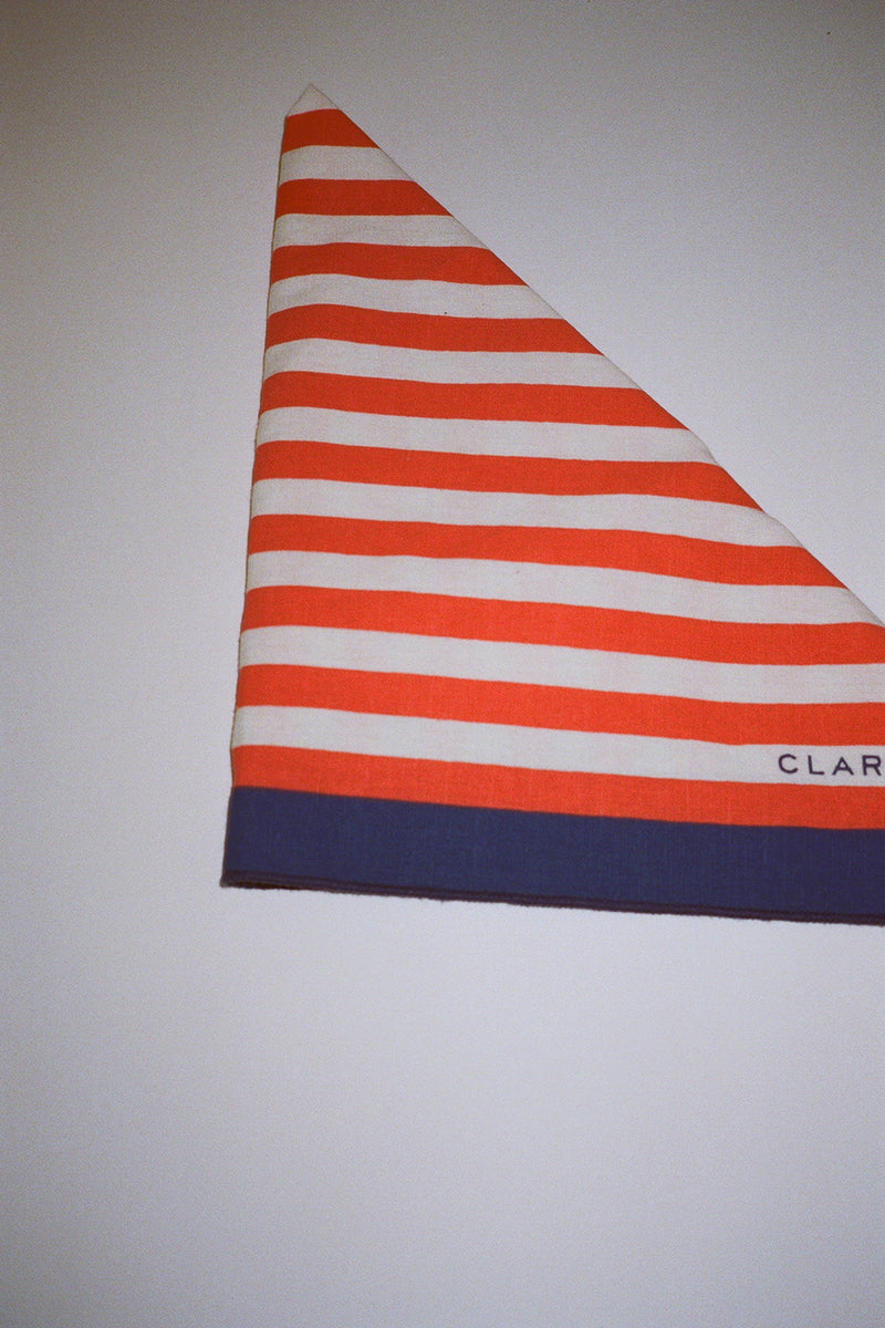 Bandana - Cream/Red/Navy Stripe