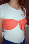 Bando Tie Top - Poppy Red