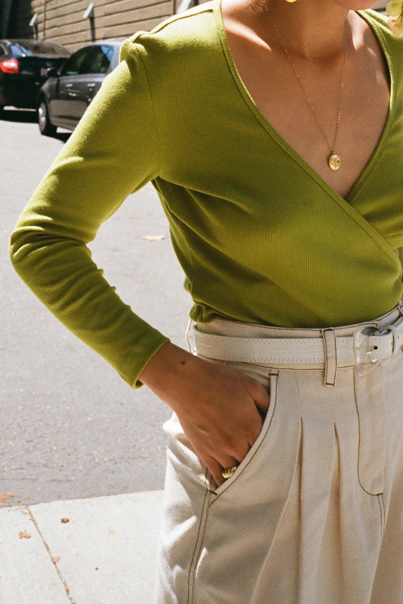 Lucille Top Long Sleeve - Matcha