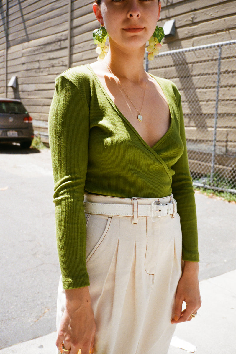 Lucille Top Long Sleeve - Moss