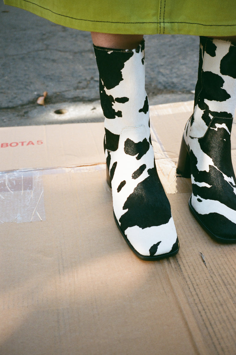 PG Boot - Cow Print