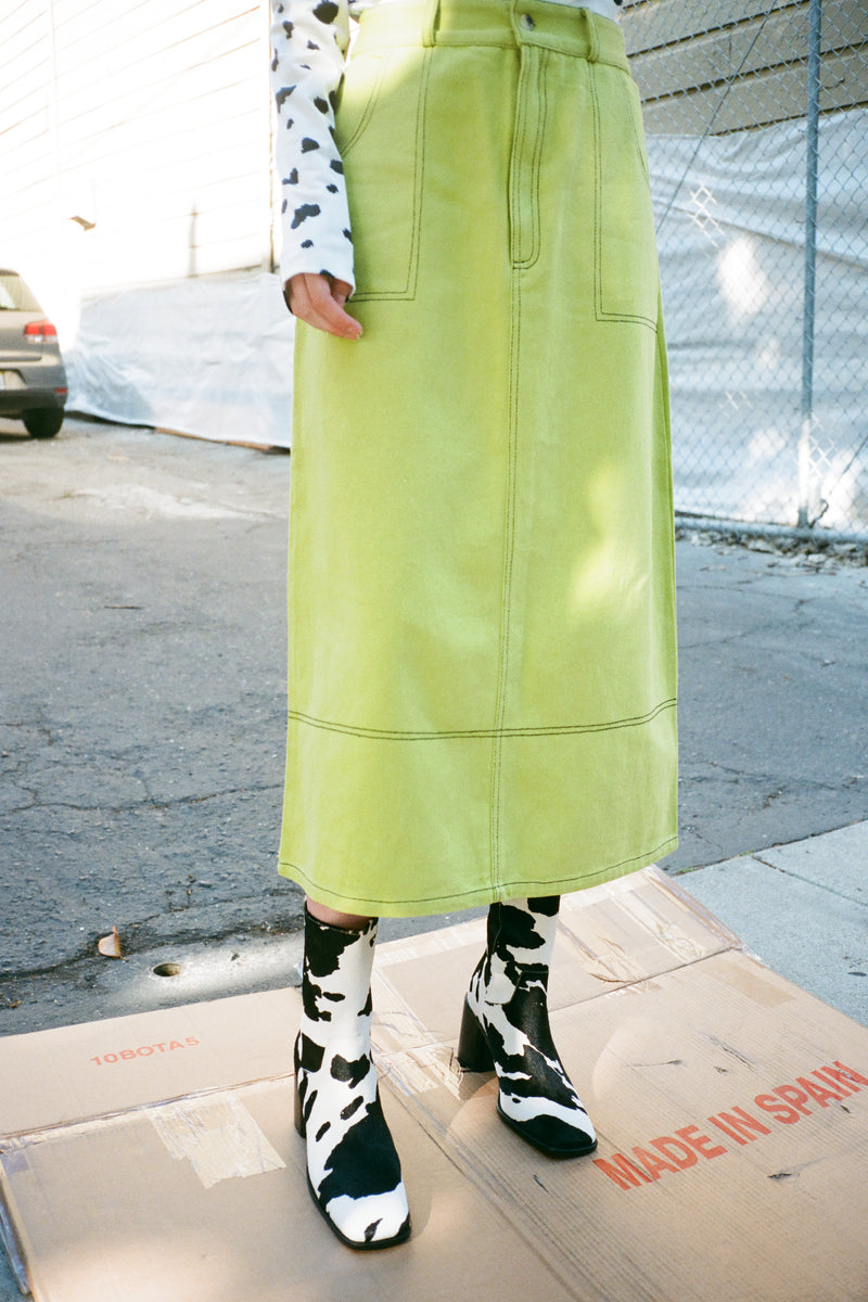 Olympia Skirt - Lime Green