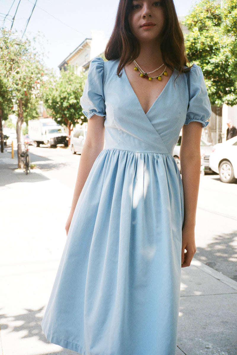 Topanga Midi Dress - Cloud Corduroy