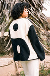 Lu Yin Yang Fleece Jacket - Black/White
