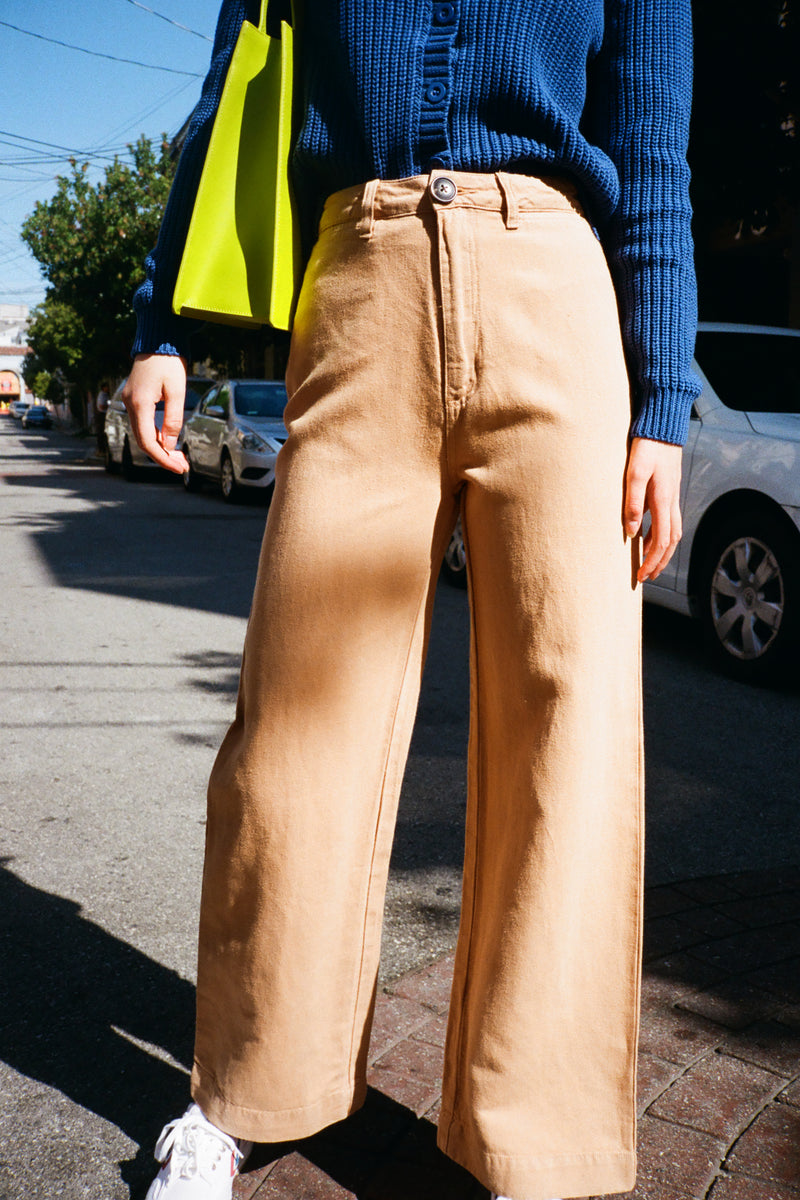 Old Mate Linen Pant - Gold