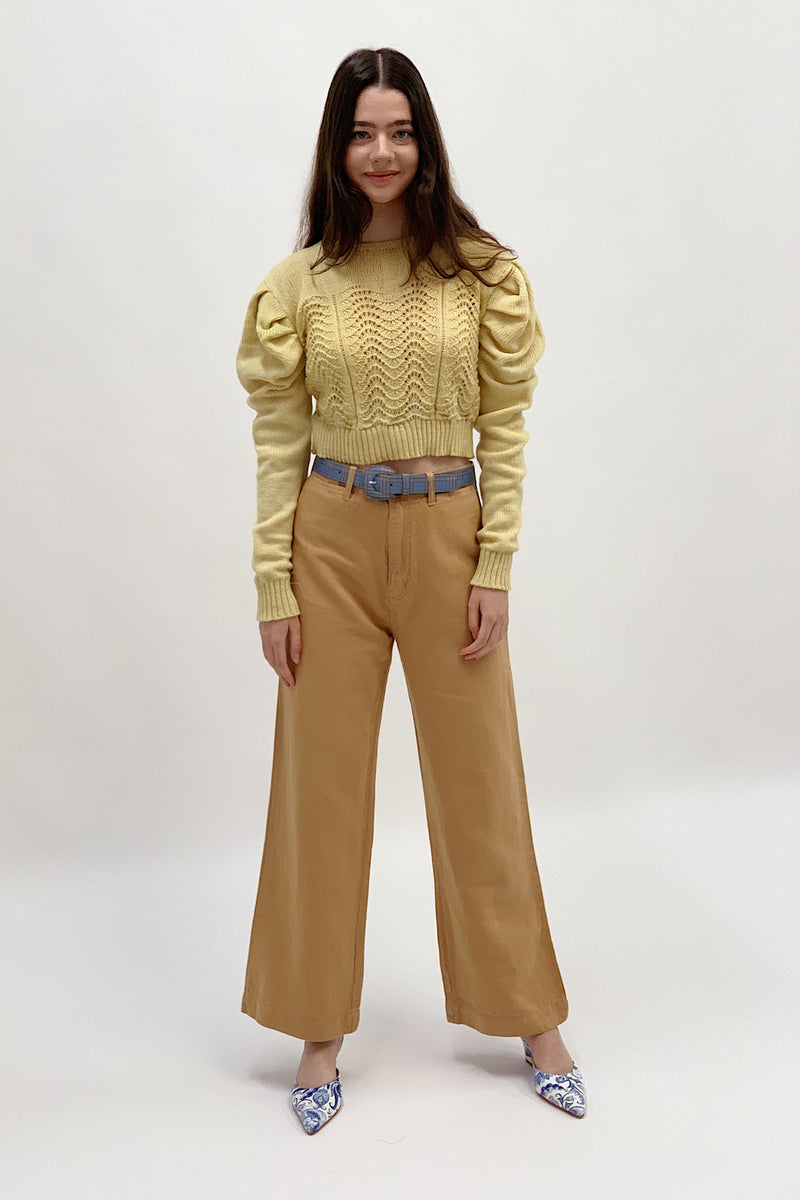 Begonia Sweater - Light Yellow