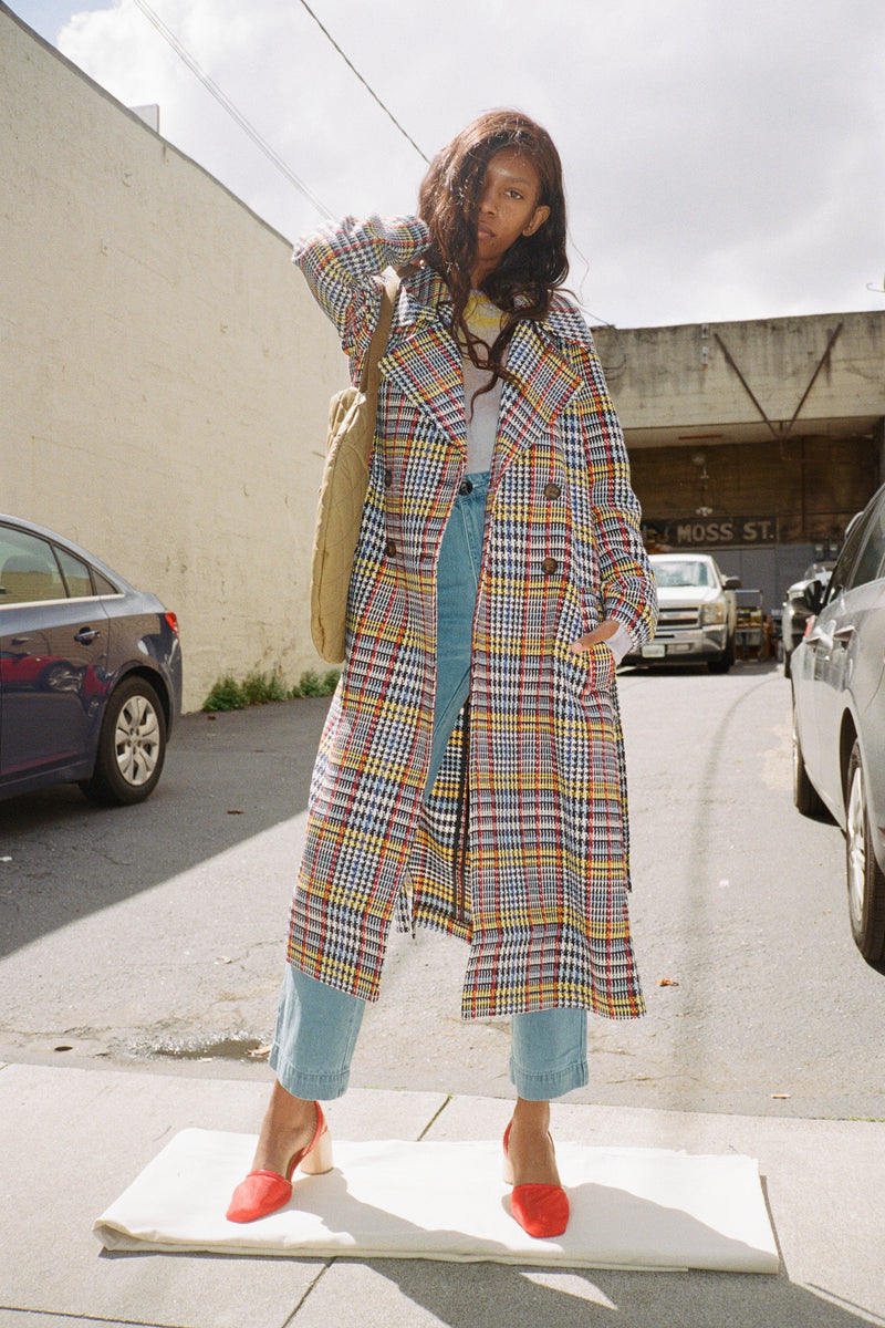 Bianca Trench - Mixed Check