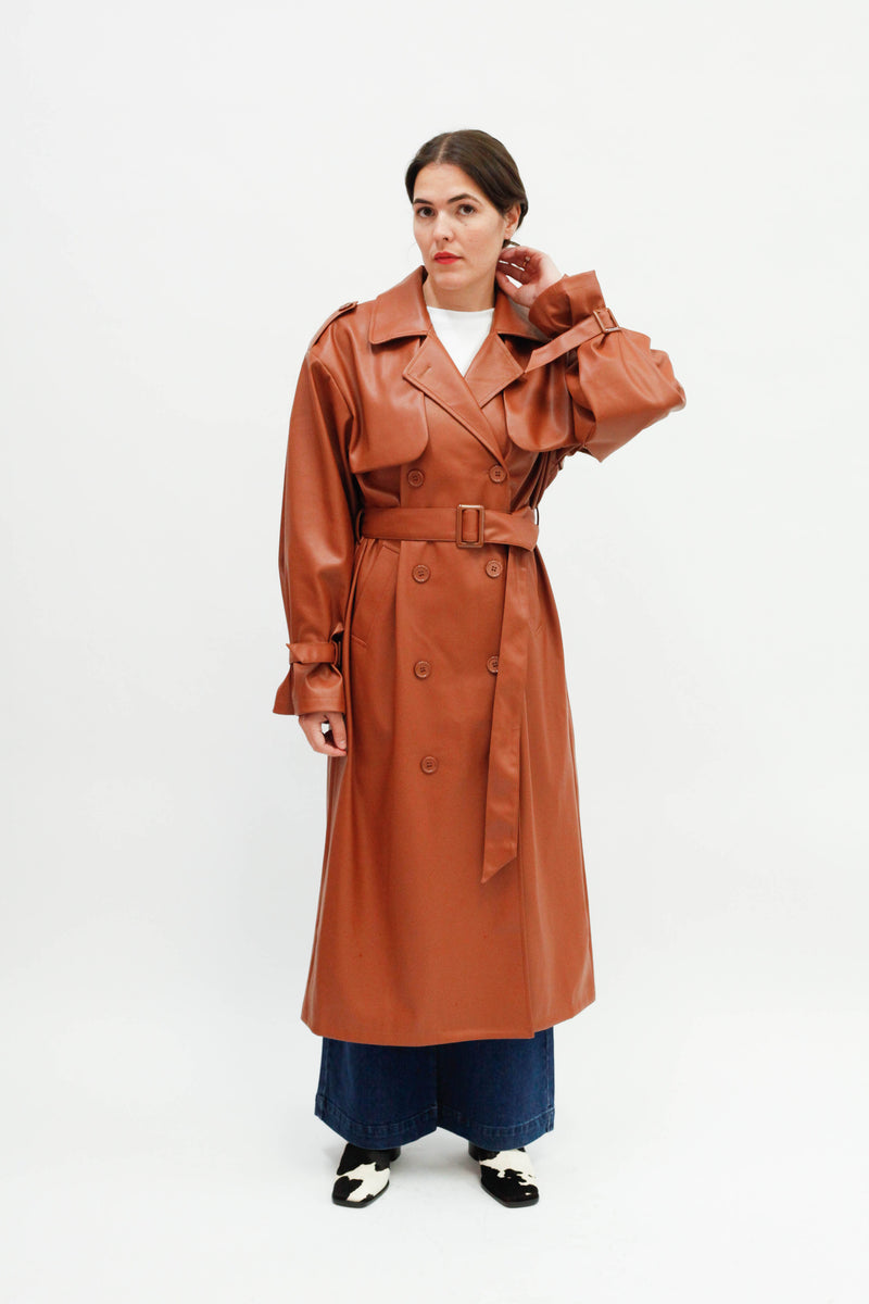 Abalone Jacket Trench - Brown Topaz