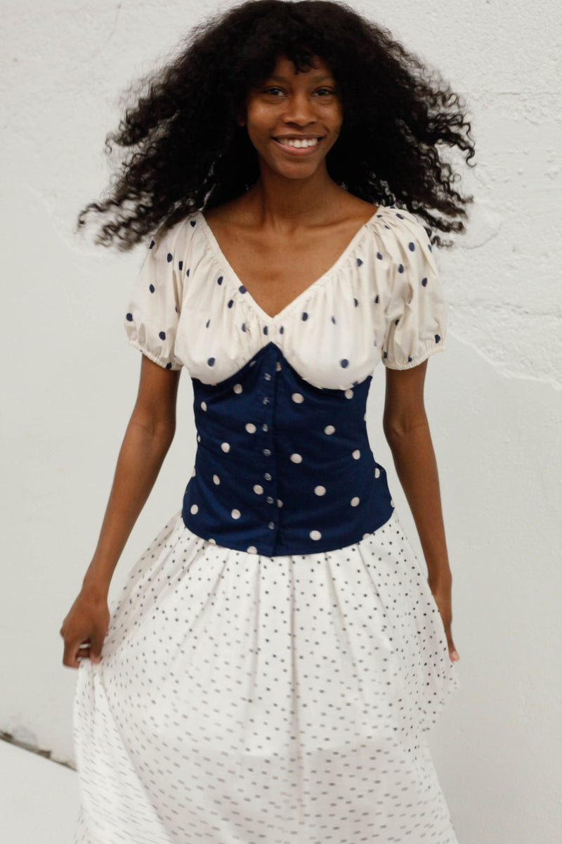 Poetic Repetition Top - Polka Dot