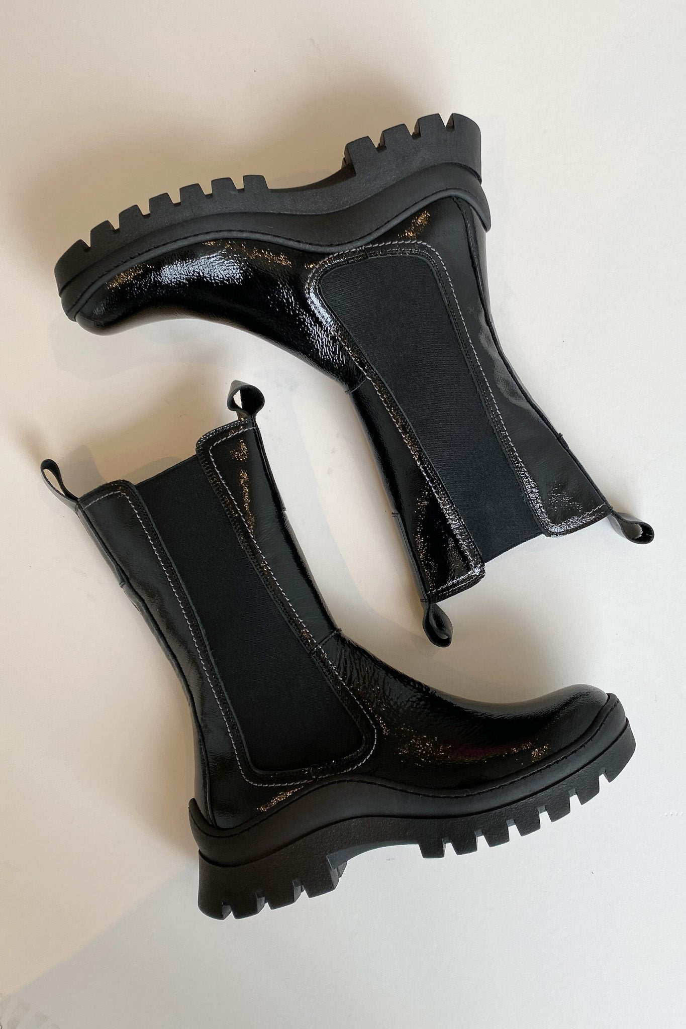 Pick Me Up Boot - Black Patent