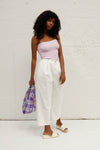 Clasp Denim Pants - White