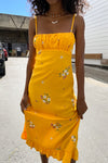 Lotta Davis Midi Dress - Yellow