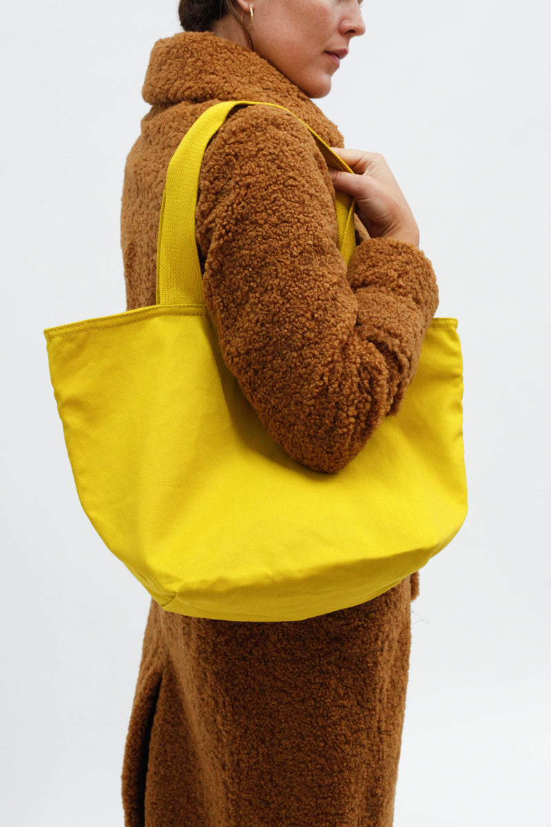Canvas Zip Tote - Citron