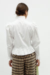 Grace Blouse - White Cotton