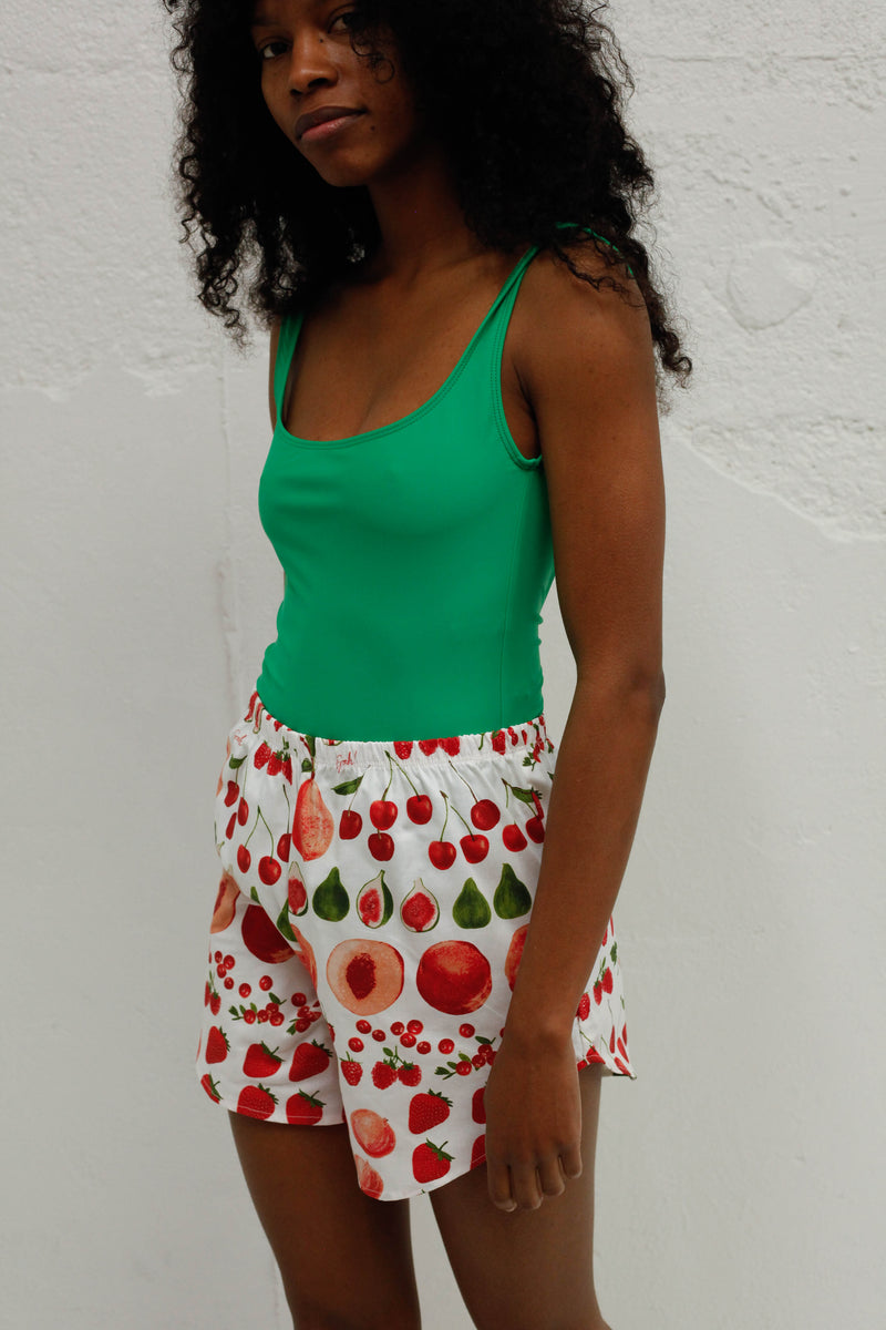 Capri Short - Fruit Print