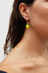 Glass Lemon Earrings