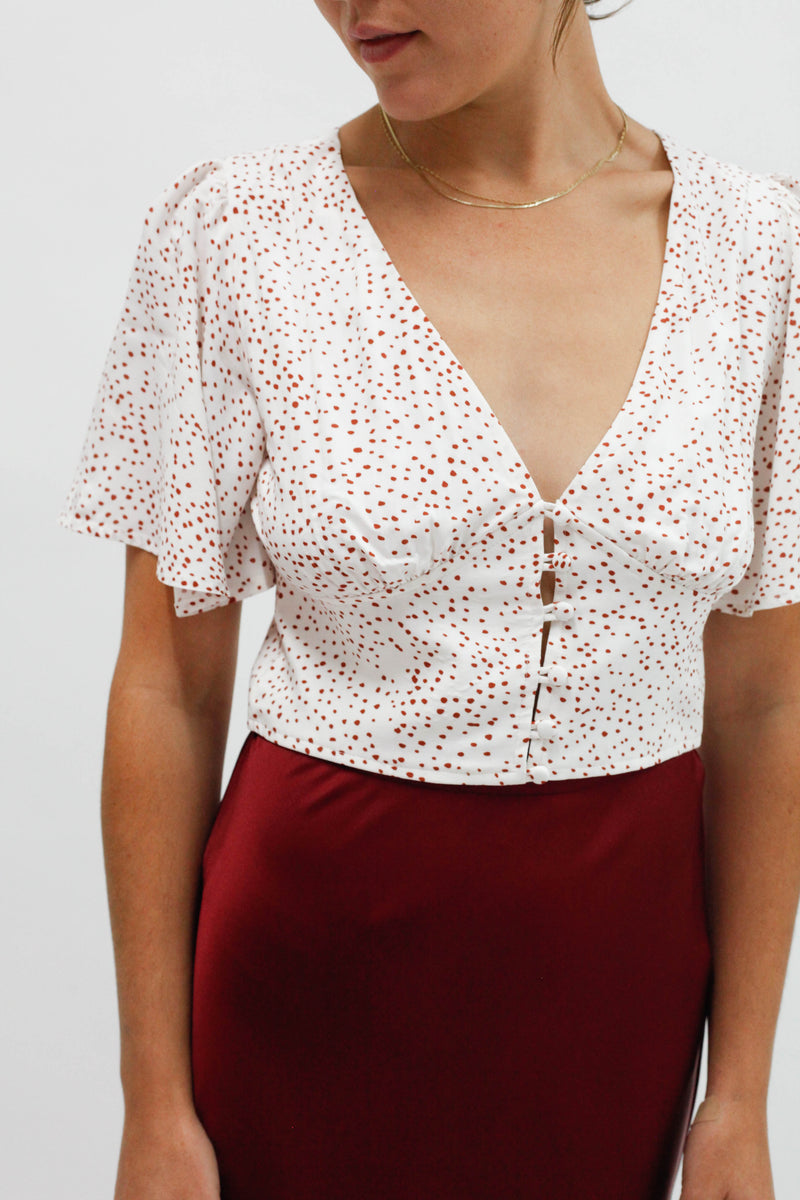 Dune Cropped Top - Pebble
