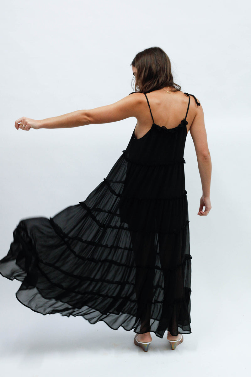 Senorita Maxi Dress - Black