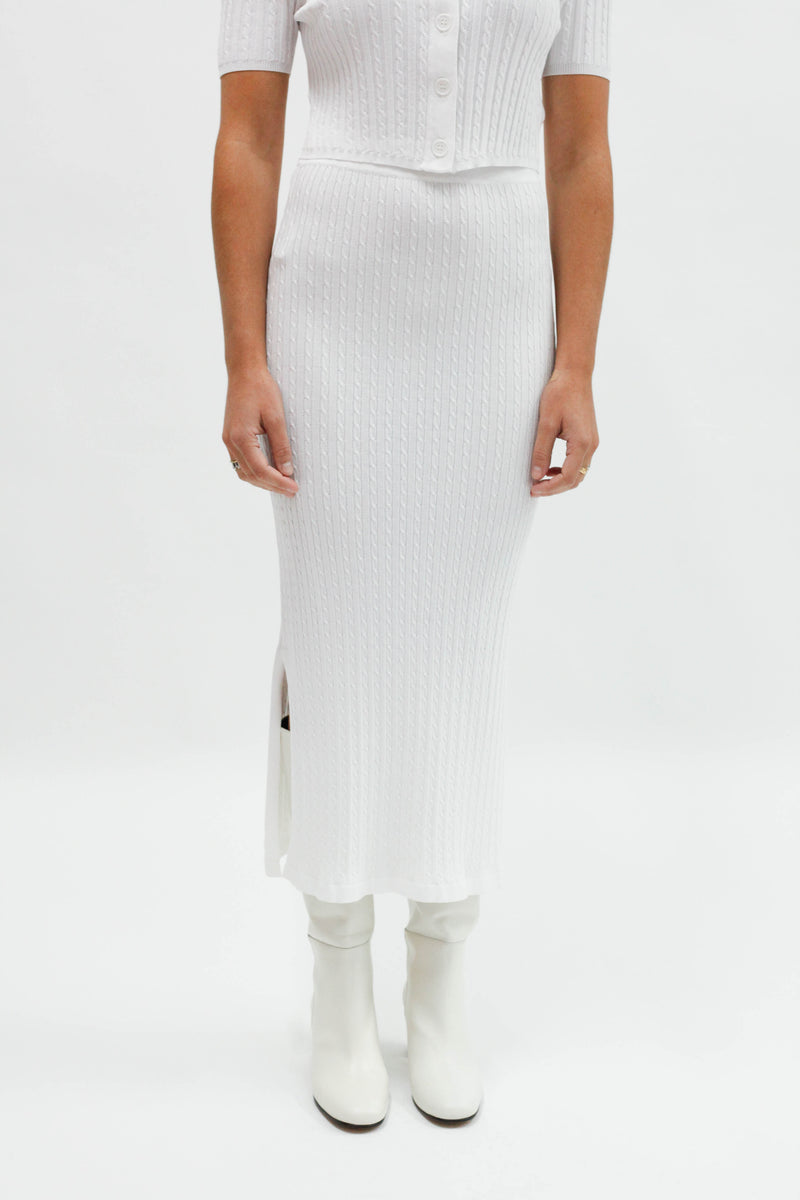 Sunday Midi Skirt White
