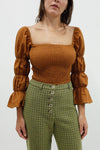 Kora Shirring Blouse - Copper