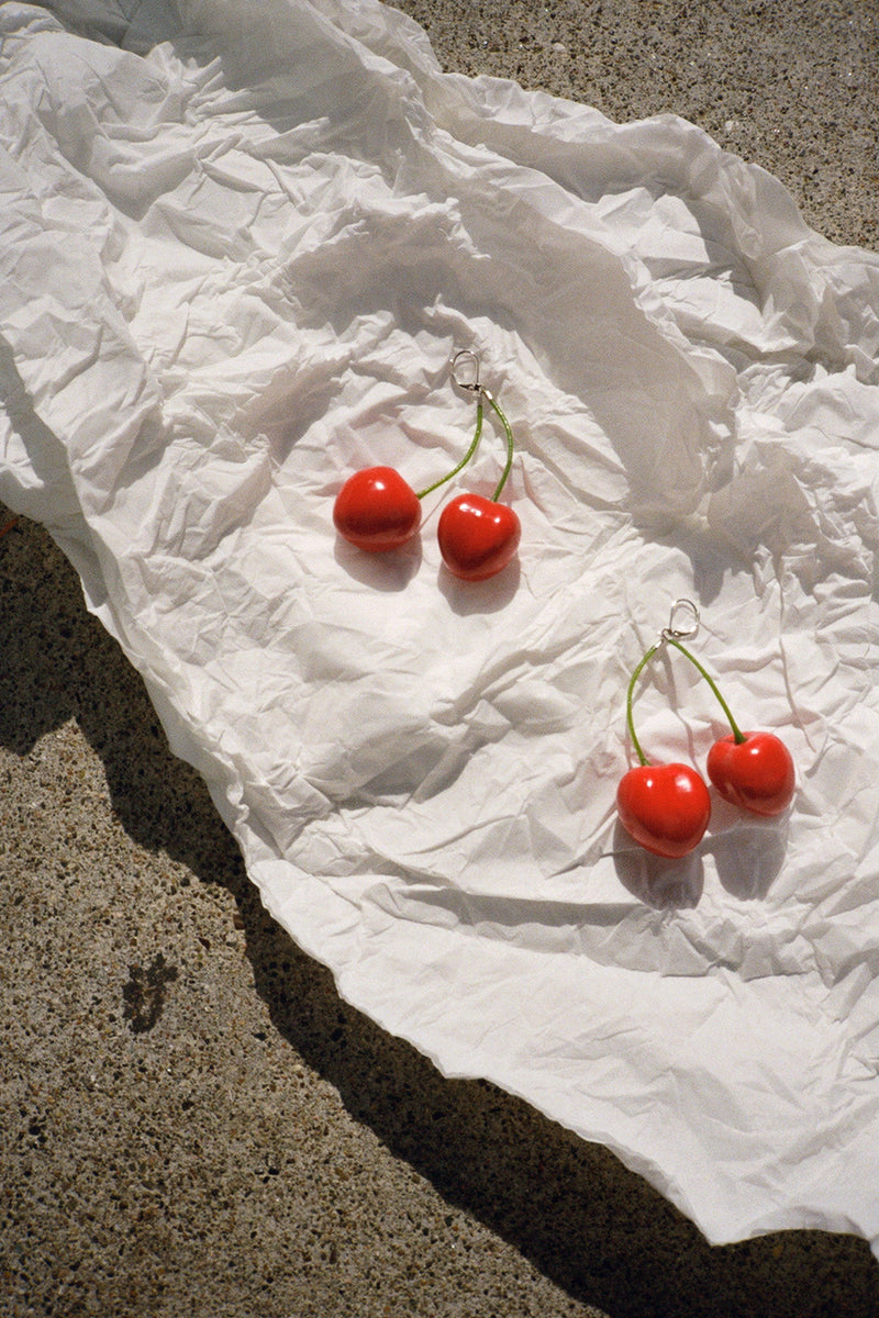 Cherry Earrings - Red