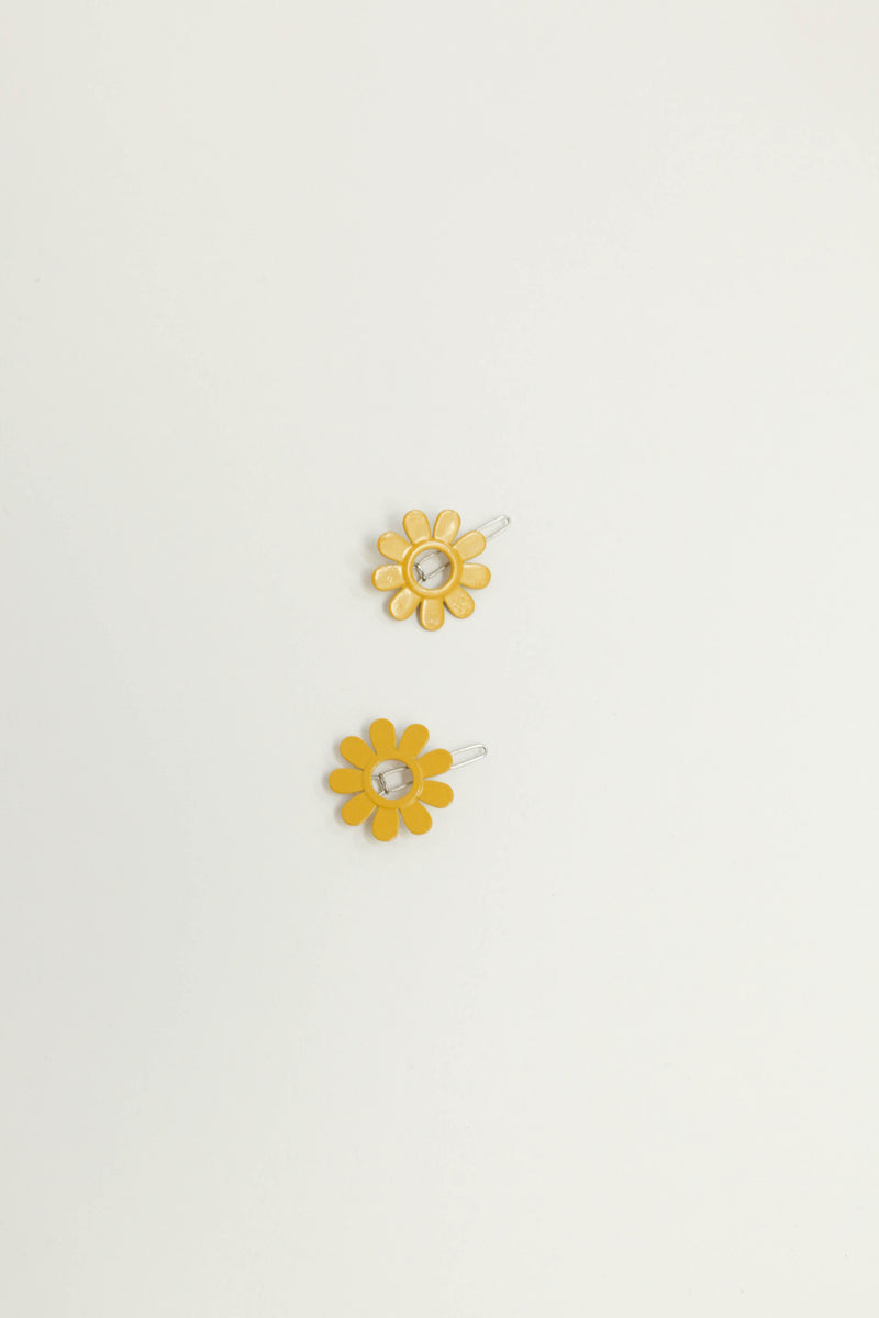 Daisy Barrette Set - Yellow