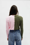 Thermal Duo Cardigan - Pink/Olive
