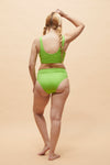 Ege Bikini Set - Bolt Green + White