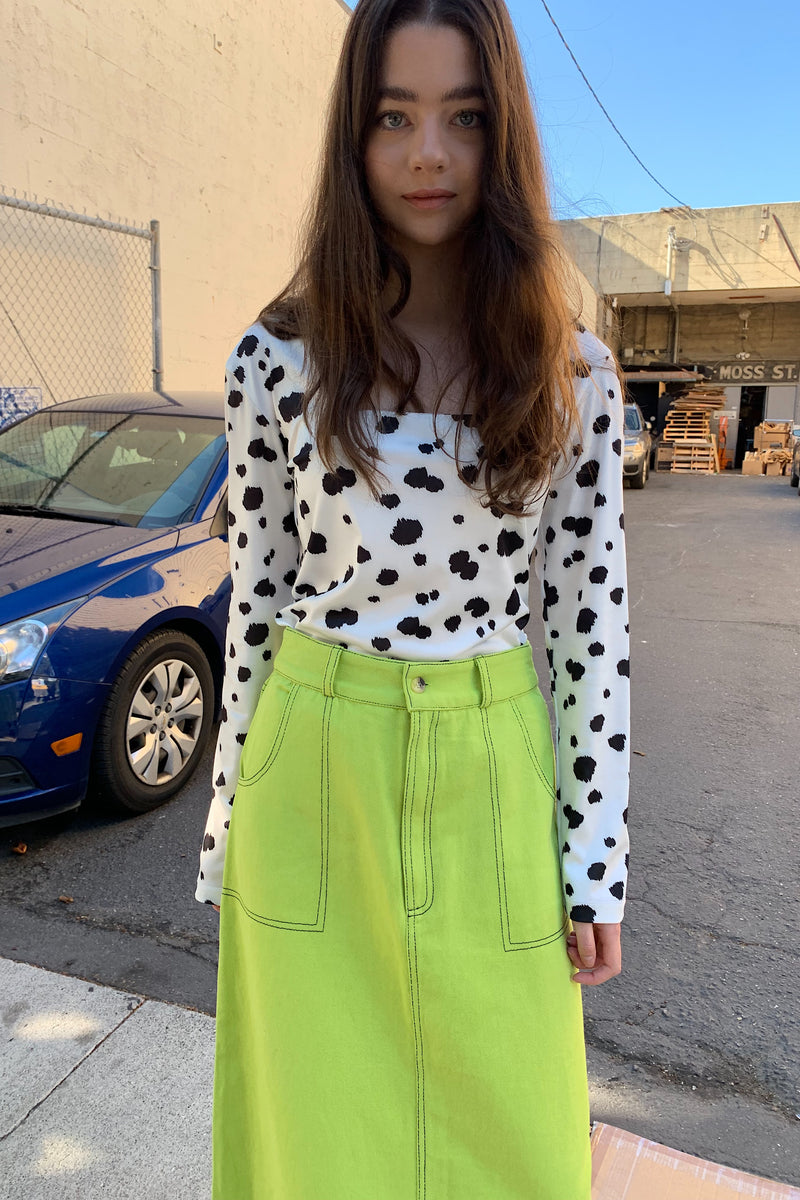 Olivia Long Sleeve Top - Dalmation