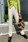 Dale Ribbed Pant - Cream