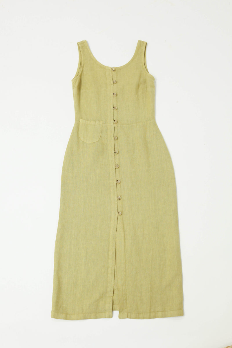 Galatea Dress - Medium Green