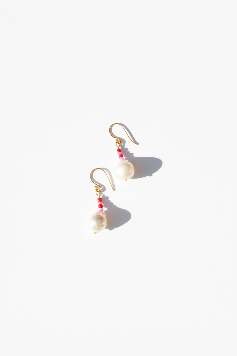 Pearl Earrings - Pink Pearl