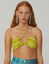 Palmetto Halter Top - Green Olive
