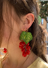 Handmade Grape Earrings - Merlot