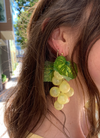 Handmade Grape Earrings - Pinot Blanc