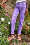 Kokomo Pants - Purple Gingham