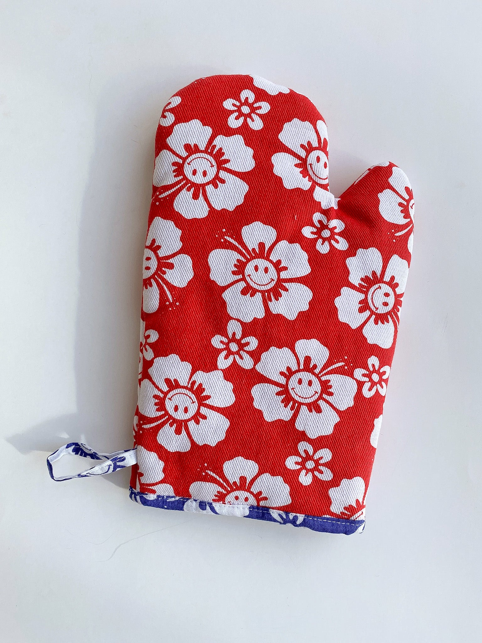 Holiday Oven Mitt -  Red Happy Hawaii