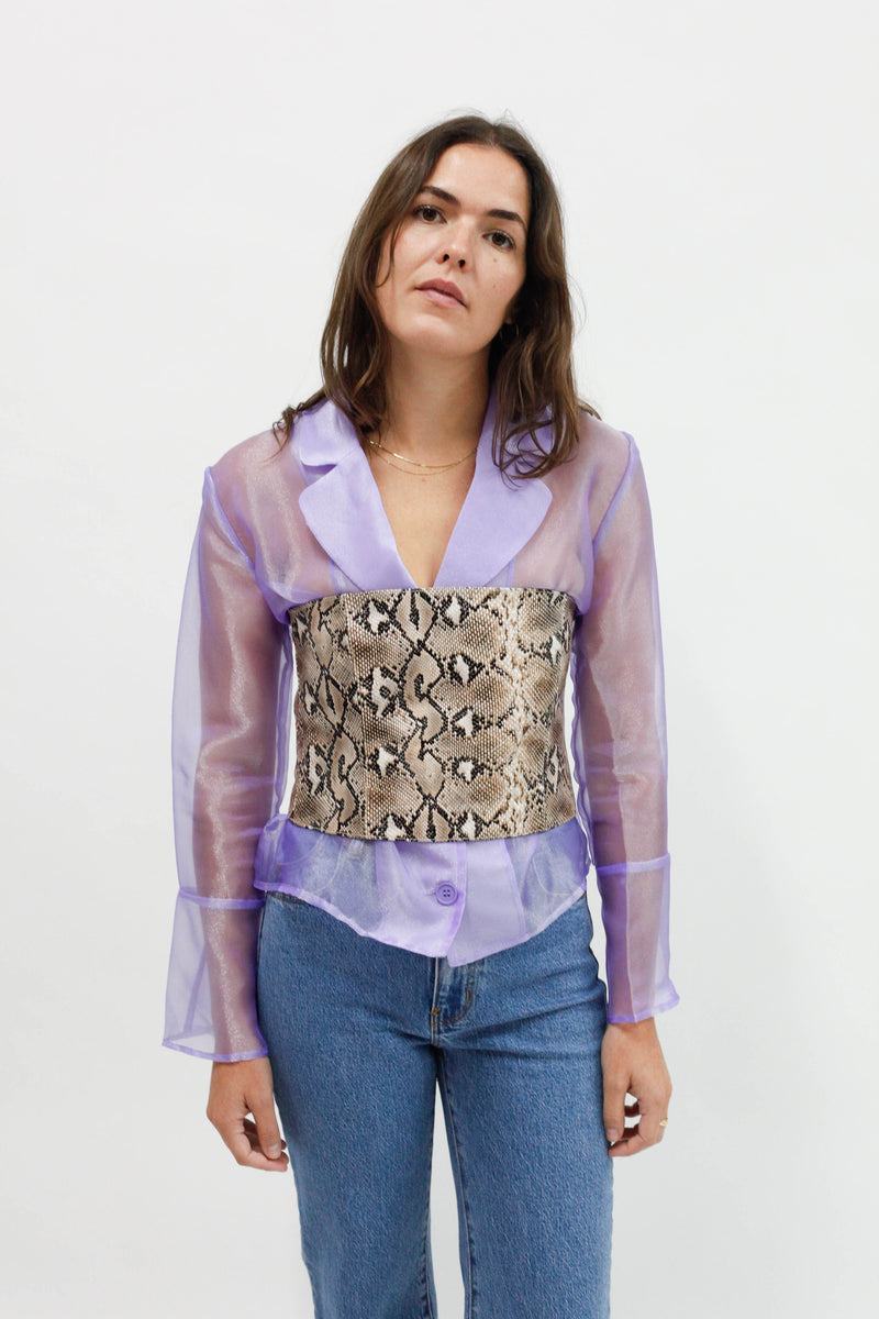 Ollie Snake Leather Tube Top - Snake