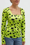 Olivia Long Sleeve Top - Lime Green