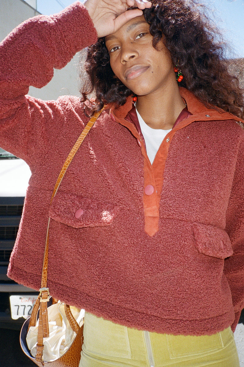 Teddy Pullover - Reddish Brown