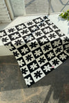 Heidi Throw Blanket - Black Daisy Check